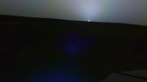 Mars-Sonnenuntergang