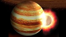 Kollision des junge Jupiter