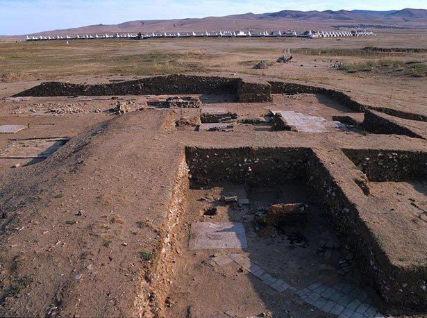 Ausgrabungsgelände in Karakorum, Mongolei
