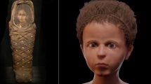 Kindermumei und Gesicht