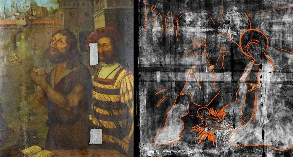 Gemälde und Röntgenbild