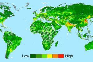 Weltkarte Subsidenz
