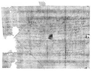 Röntgenbild eines Briefs