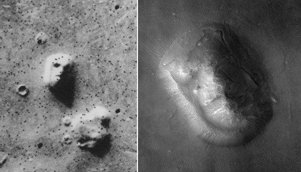Gesicht auf dem Mars