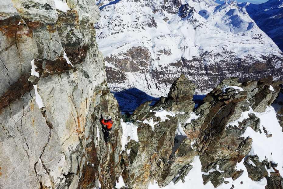 Forscher am Matterhorn