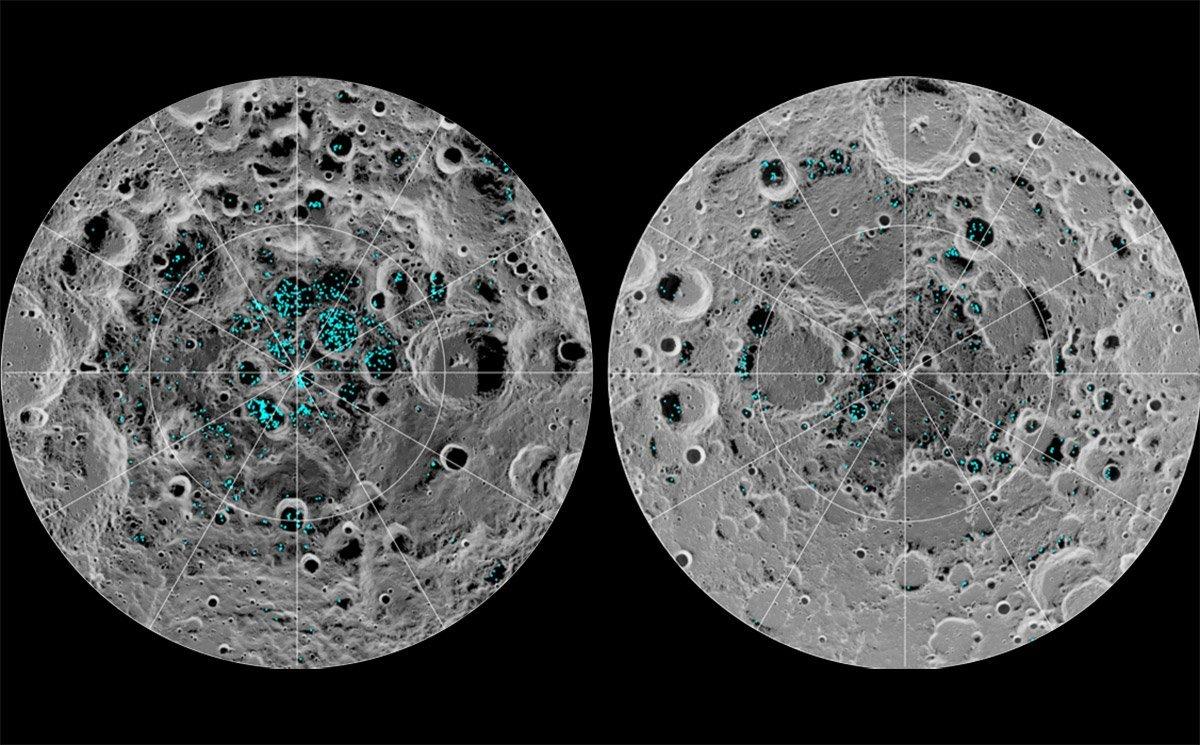 WAssereis auf dem Mond