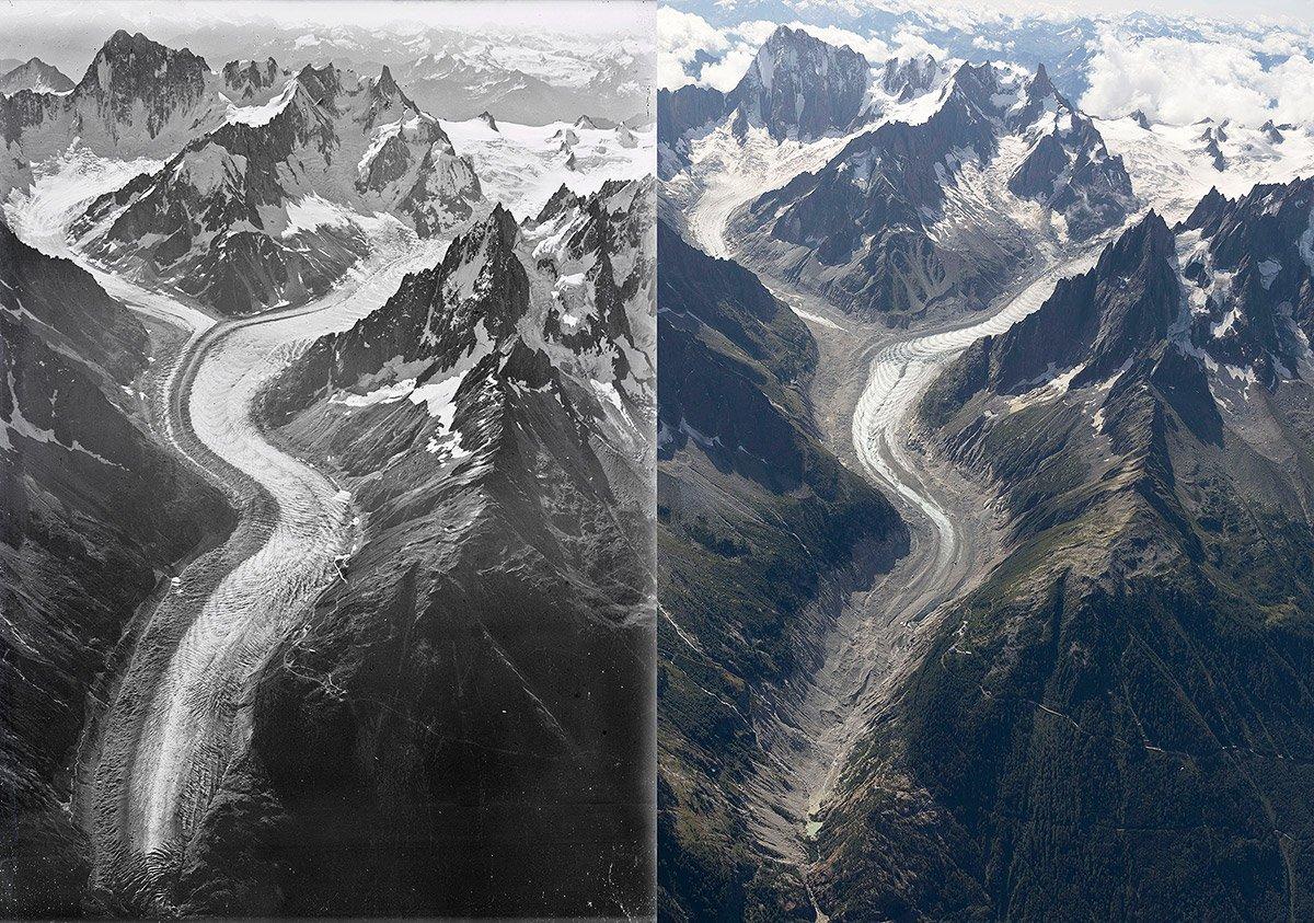 100 Jahre Eisverlust am Montblanc