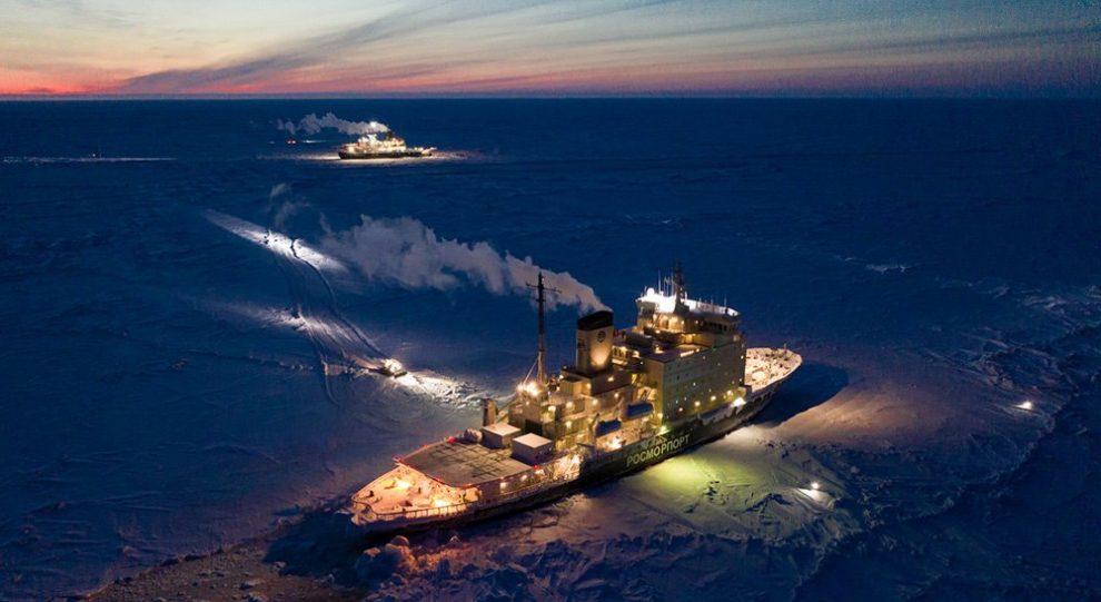 Polarstern und Eisbrecher