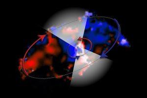 Rotierende Gasströme ums Schwarze Loch