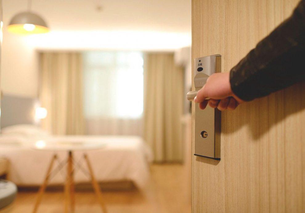 Blick in Hotelzimmer