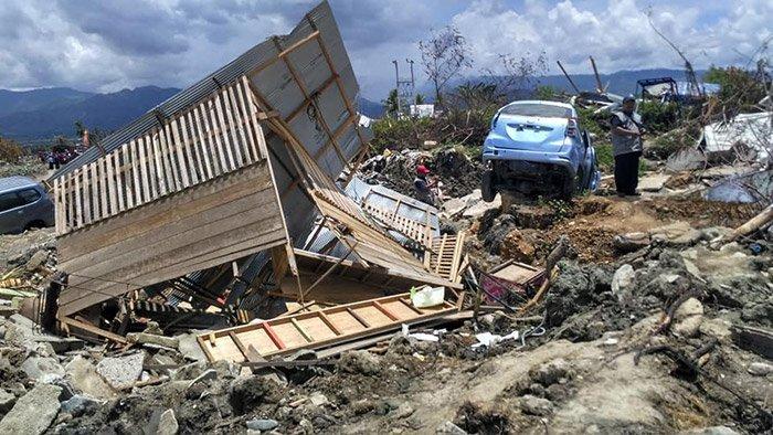 Erdbebenschäden auf Sulawesi