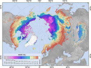 Globale Temperaturentwicklung Auf Virtuellen Karten Dargestellt