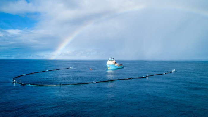 The Ocean Cleanup im Great Pacific Garbage Patch