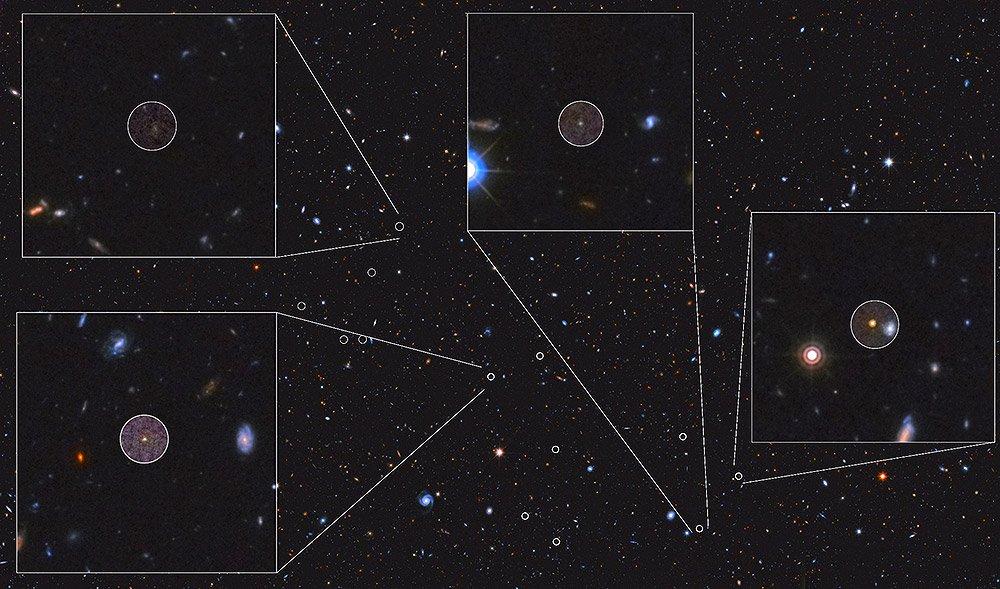 Größter Galaxienhaufen des frühen Kosmos - 12,5 Milliarden Jahre alter Protocluster ist schon acht Billionen Sonnenmassen schwer - scinexx.de - scinexx | Das Wissensmagazin