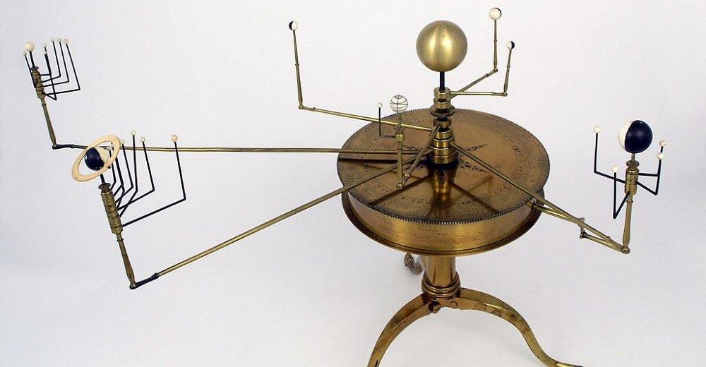 Planetenmaschine aus der Werkstatt von Robert Brettell Bate, London circa 1812