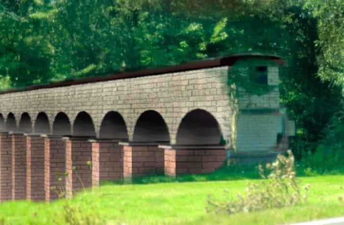 Aquädukt-Brücke