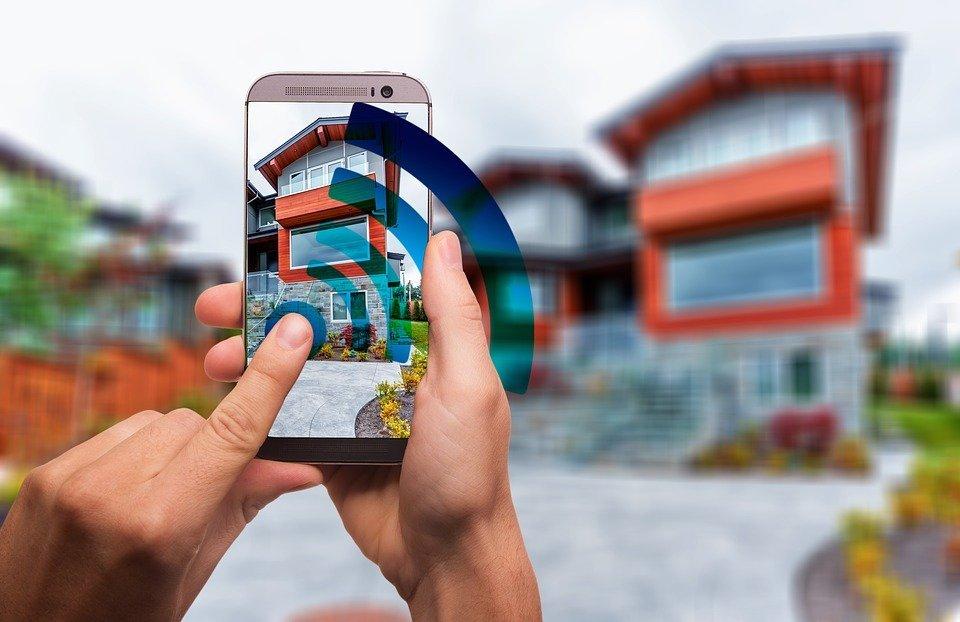 Tablet mit Smart-Home-Programm