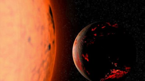 Roter Riese und PLanet