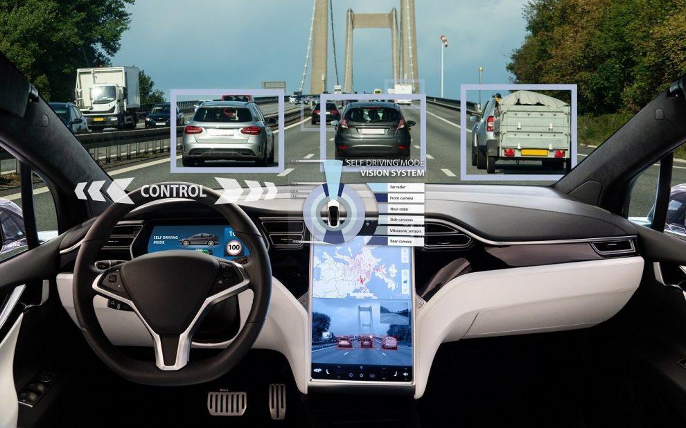 Cockpit eines autonom fahrenden PKW