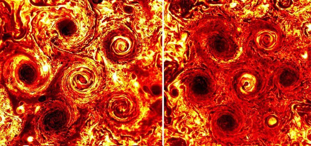 Südpolstürme auf dem Jupiter