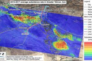 Bodenabsenkung Teheran