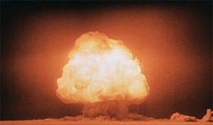 Atombomben-Explosion