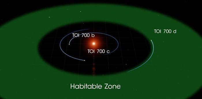Orbit von TOi-700 d