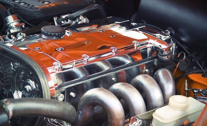 Blick unter die Motorhaube