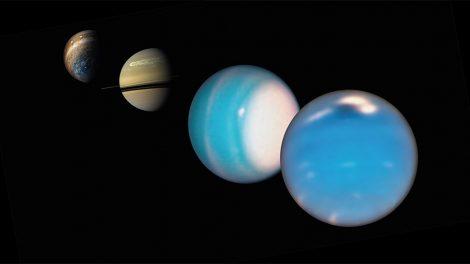 Jupiter, sAturn, Uranus, Neptun