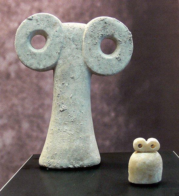 Augenidole, Sammlung Ebnöther im Museum zu Allerheiligen, Schaffhausen