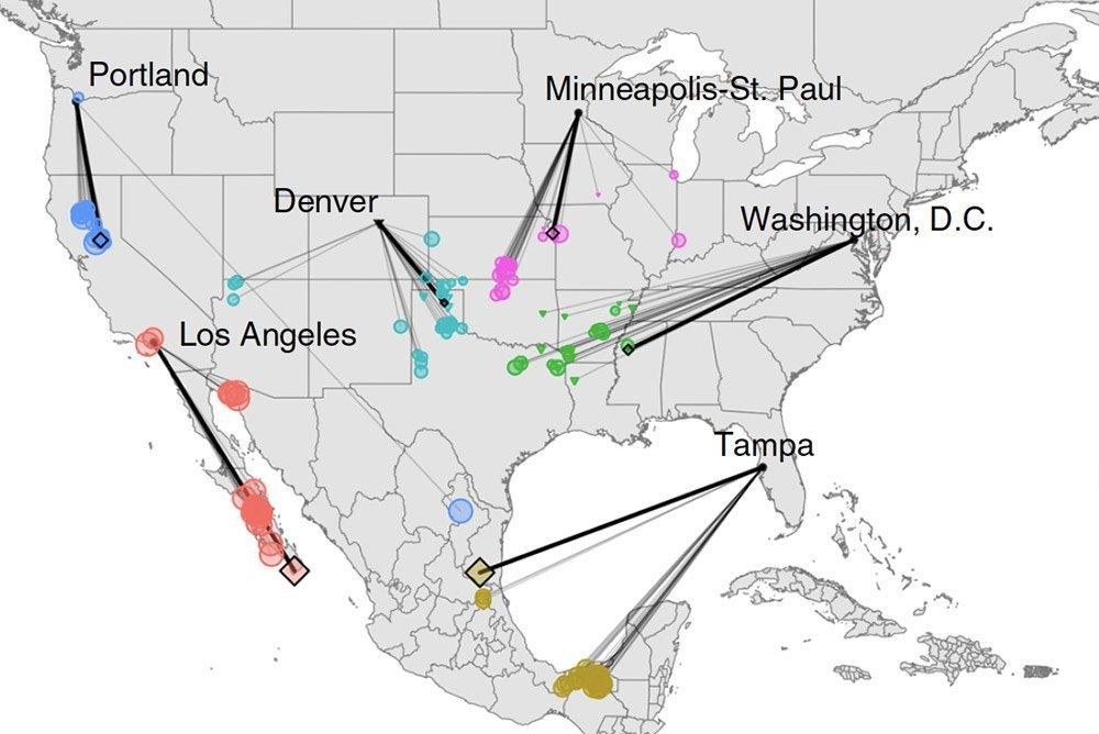 Klimaverschiebungen für US-STädte