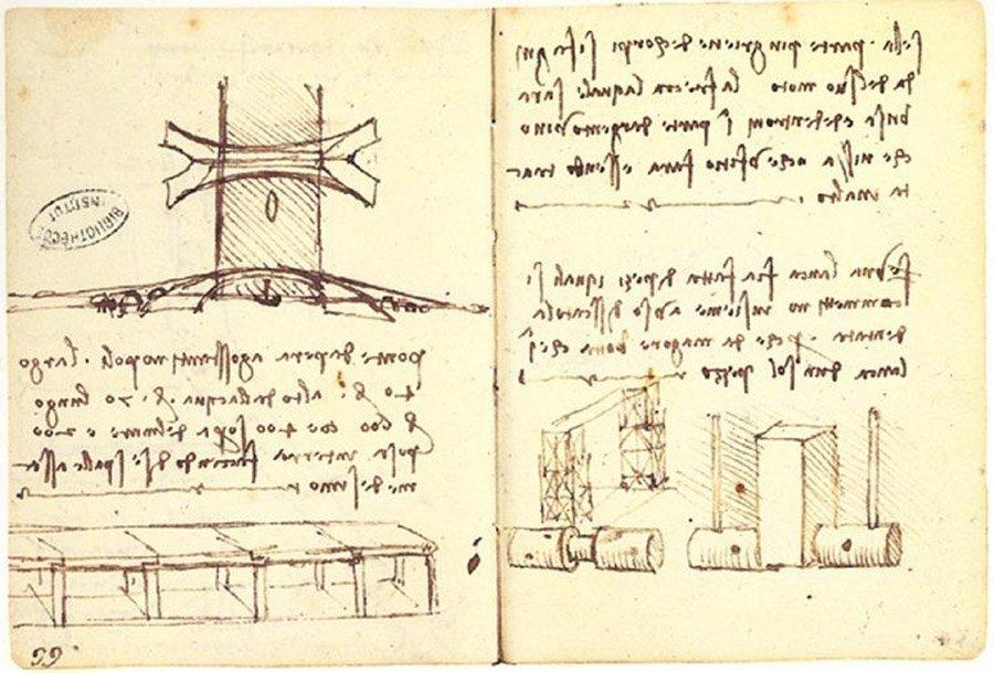 Leonardos Brückenentwurf