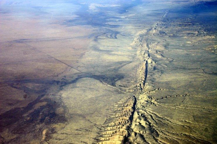 Luftbild der San-Andreas-Verwerfung