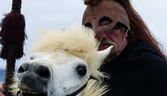 Wikinger zu Pferd