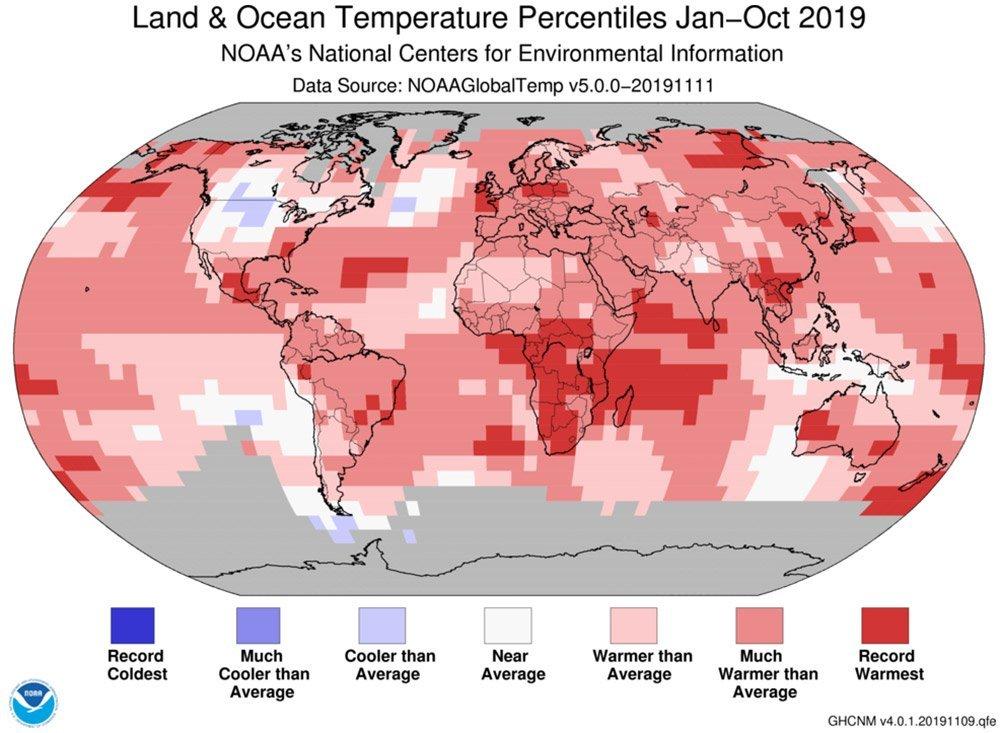 Temperaturanomalien 2019