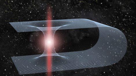 Wurmloch in der Raumzeit