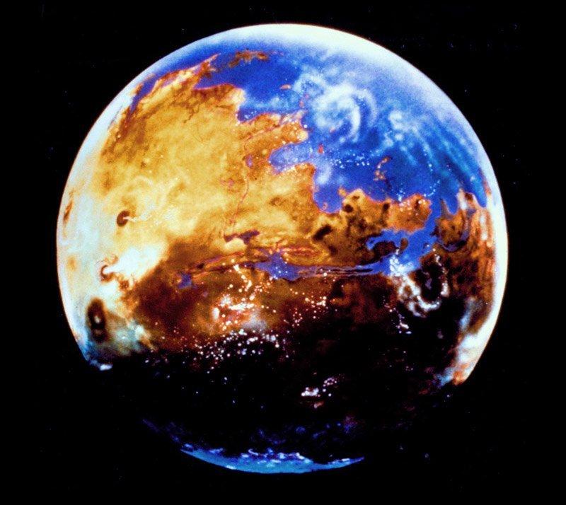 Mars vor 4 Mrd Jahren